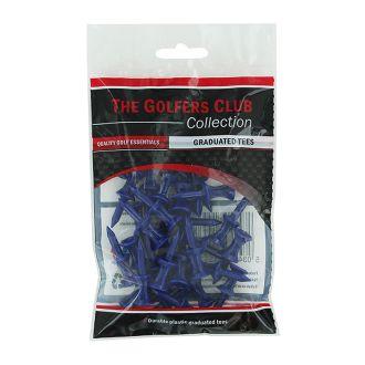The Golfers Club Blue Step Plastic Tees 18mm