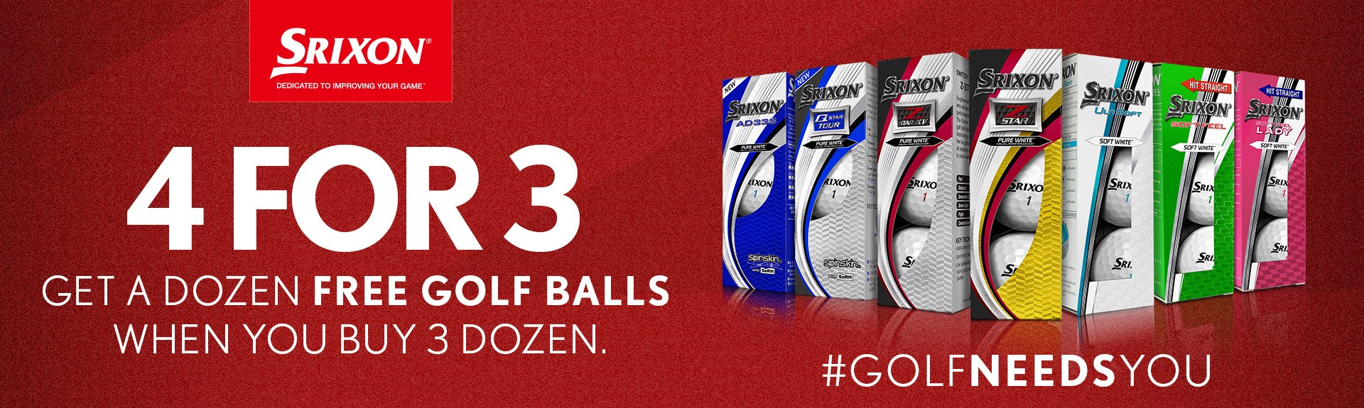 Srixon 4 for 3 Ball Promo