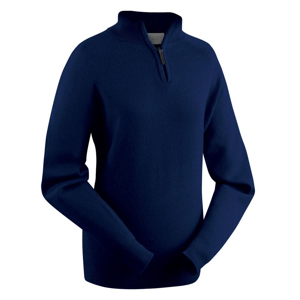 Glenbrae Ladies Lambswool Zip Neck Pullover