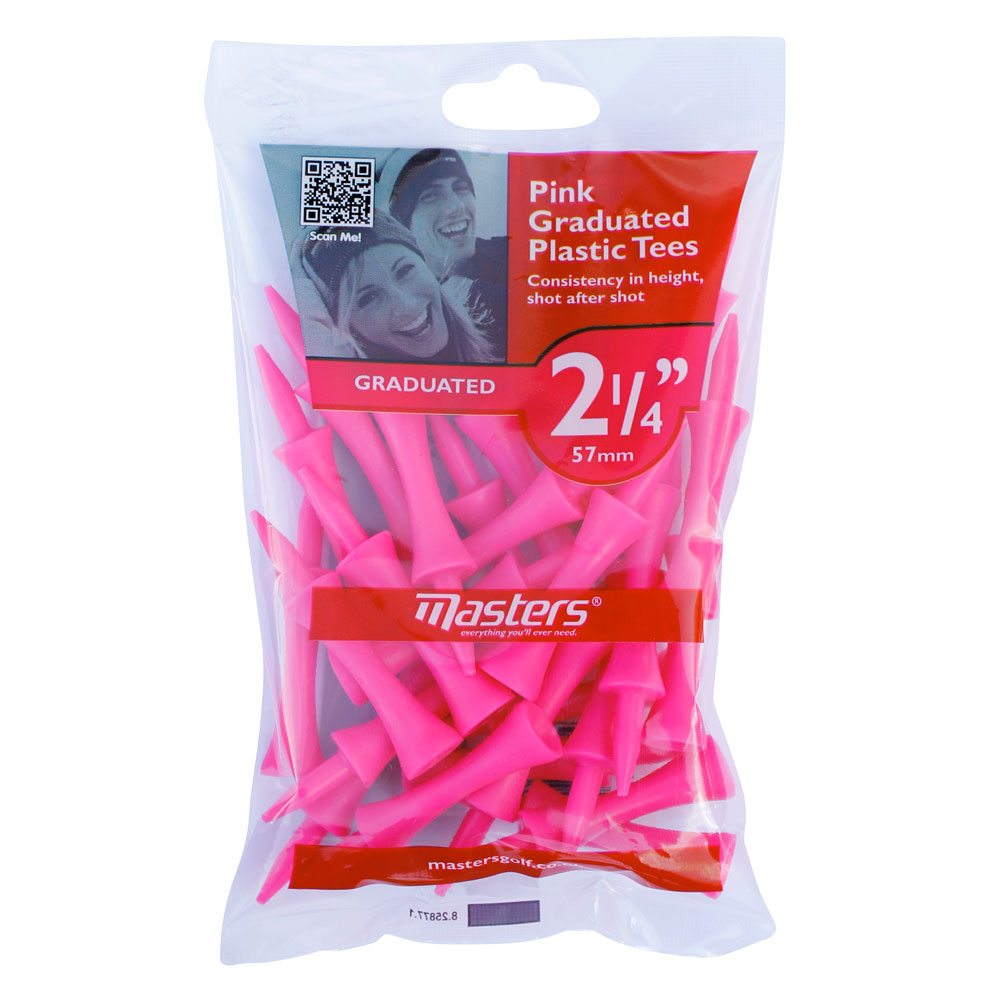 Masters Pink Graduated Plastic Tees 57mm