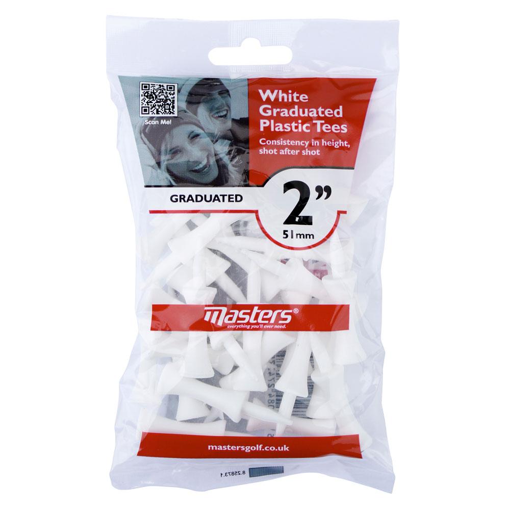Masters White Graduated Plastic Tees 51mm