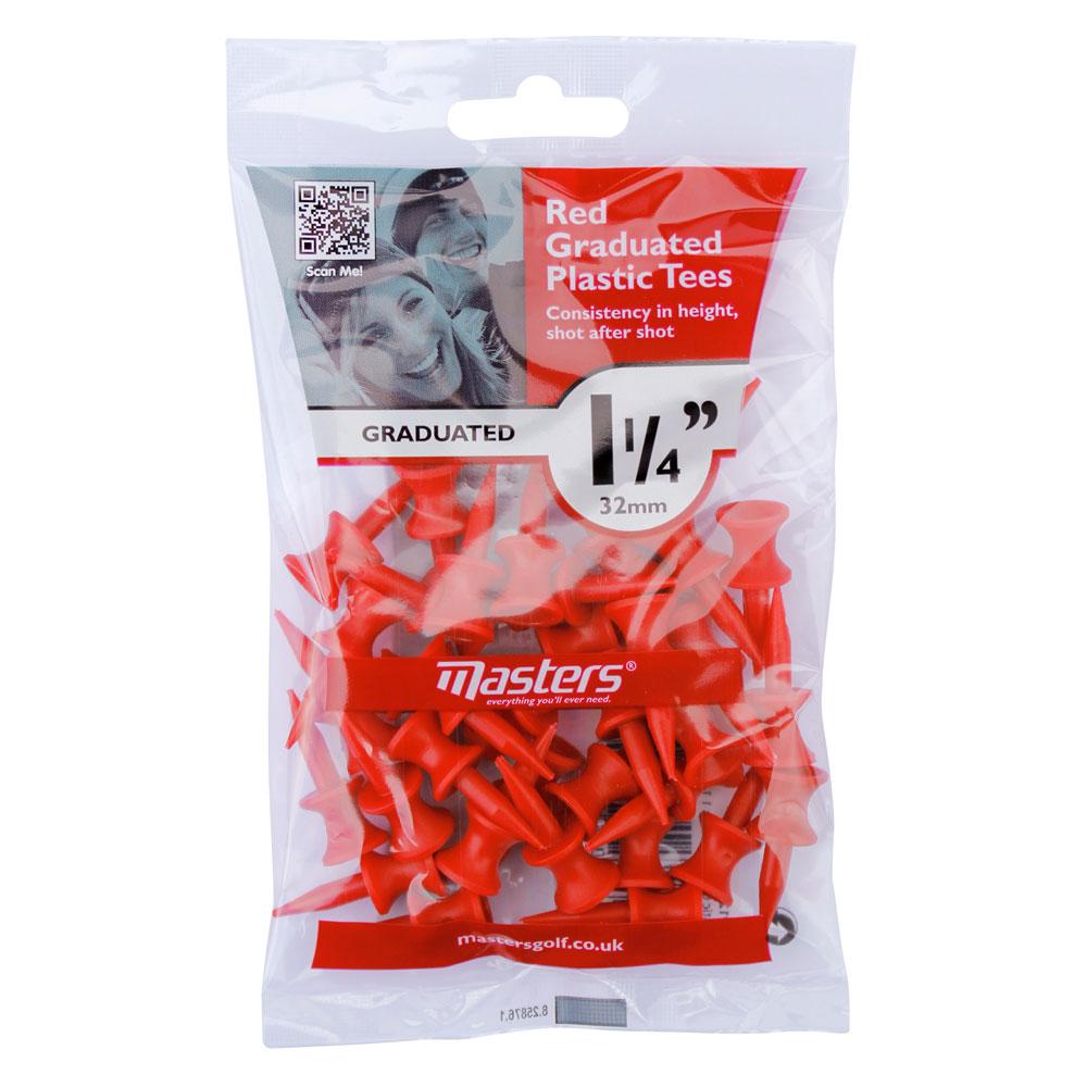 Masters Red Graduated Plastic Tees 32mm