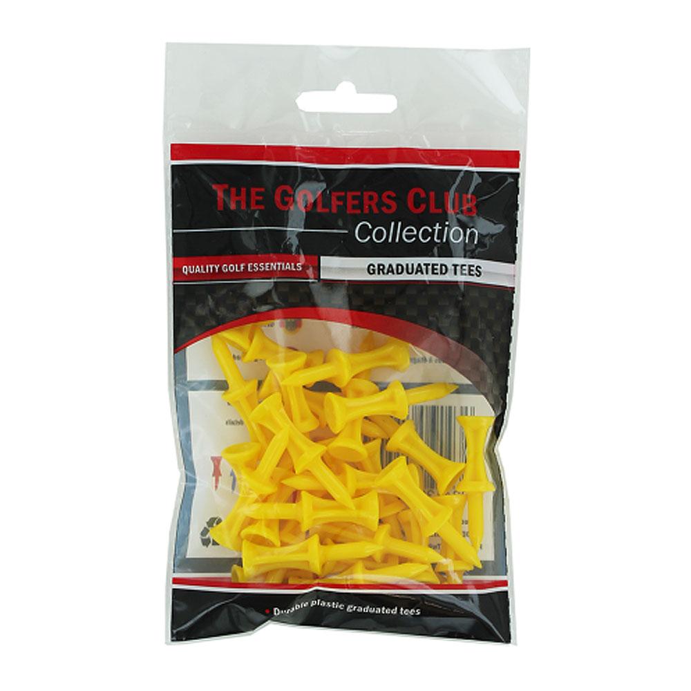 The Golfers Club Yellow Step Plastic Tees 25mm