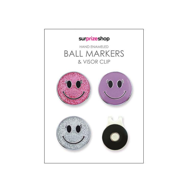 Surprizeshop Smiley Ball Marker and Visor Clip Set