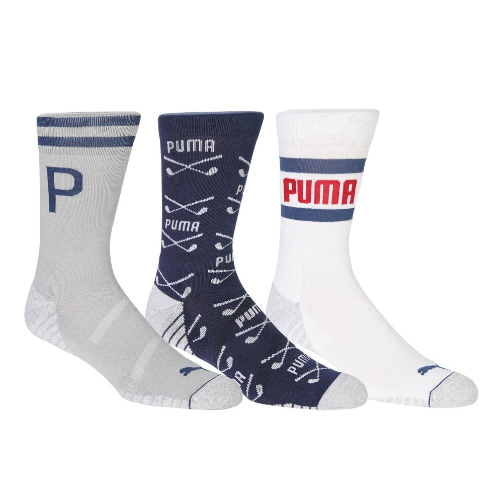 Puma Fusion Crew Golf Socks (3-Pack)